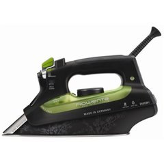 Rowenta Eco Intelligence Steam iron DW6010F1 Black/green, 2400 W, With cord, Continuous steam 40 g/min, Steam boost performance 160 g/min, Auto power off, Anti-drip function, Anti-scale system, Vertical steam function