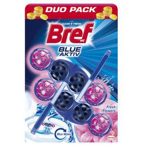 """Очиститель и освежитель для туалета """"BREF Blue Aktiv Fresh Flowers"""" 2x50г"""