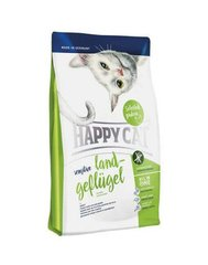 Kuivtoit kassidele Happy Cat Sensitive kanalihaga, 4 kg