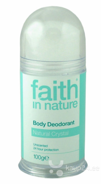Kristalldeodorant Faith in Nature 100 g цена и информация | Deodorandid | kaup24.ee