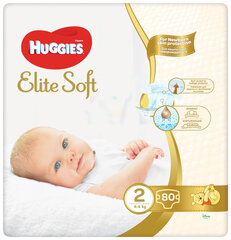 Подгузники HUGGIES Elite Soft Mega, 2 размер, 80 шт. цена и информация | Для ухода за младенцем | kaup24.ee