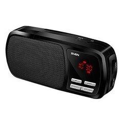 Kaasaskantav kõlar Sven PS-50 Micro SD / Radio / Aux / LCD Display, must hind ja info | Kõlarid | kaup24.ee