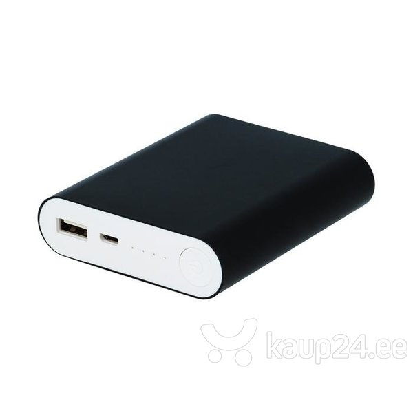 Akupank Setty Power Bank 8800mAh 5V 1,5 A + Micro USB kaabel, must hind
