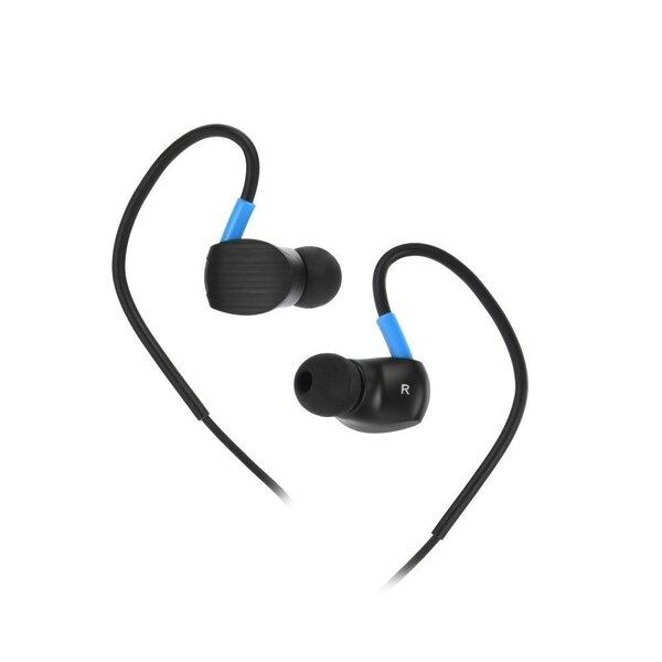 Kõrvaklapid Blue Star Sport SP93, 3.5mm/1.2m, must/sinine hind
