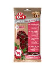 8in1 мини-лакомство для собак с ягненком и клюквой, 100 г