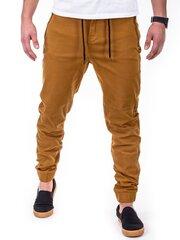 Meeste püksid Ombre P417, pruun hind ja info | Meeste püksid ja teksad | kaup24.ee