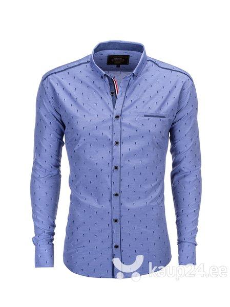Meeste triiksärk Ombre K317, sinine