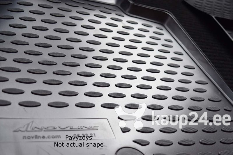 Kummimatid 3D CHRYSLER 300C 2012->, 4 pcs. /L09002G /gray