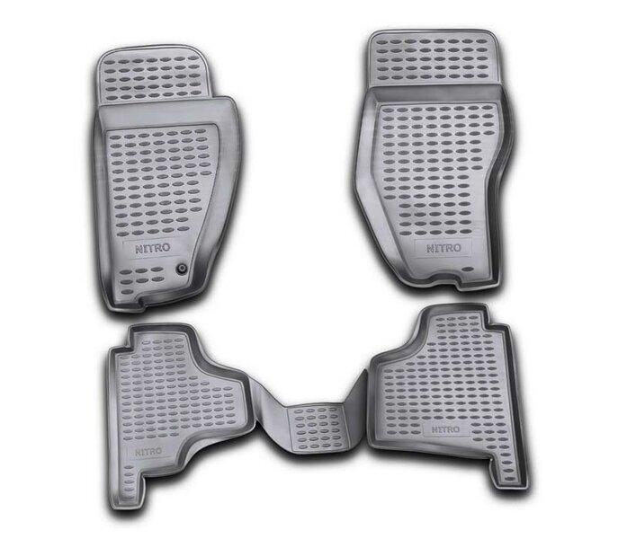 Kummimatid 3D DODGE Nitro 2007-2012, 4 pcs. /L16010G /gray