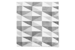 Pleed 4LIVING, 130x170 cm, hall/valge