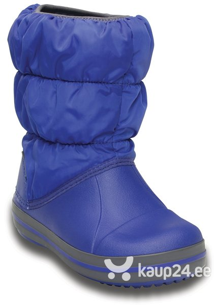 Poiste talvesaapad Crocs™ Winter Puff Boot Kids, Blue/Light grey soodsam