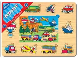 Laste puidust hariv loto ja pusle mäng Step Puzzle Transport hind ja info | Laste puidust hariv loto ja pusle mäng Step Puzzle Transport | kaup24.ee