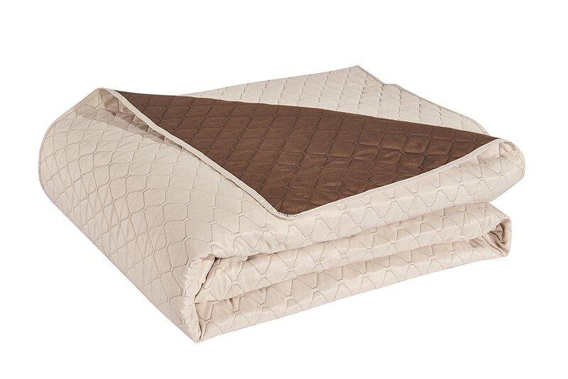 Kahepoolne voodikate Axel Cream Braun, 170x270 cm tagasiside