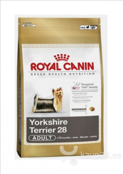 Koeratoit Royal Canin Yorkshire Terrier 28 Adult 1,5 kg