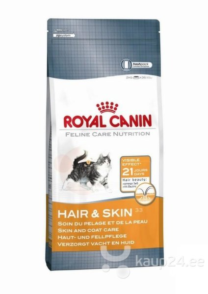 Royal Canin Cat Hair and skin 10 кг цена и информация | Kuivtoit kassidele | kaup24.ee