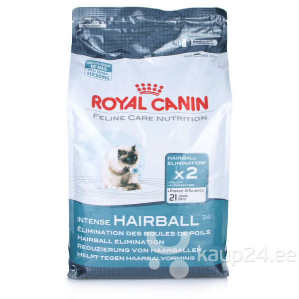 Royal Canin Cat Intense Hairball 4 кг цена и информация | Kuivtoit kassidele | kaup24.ee
