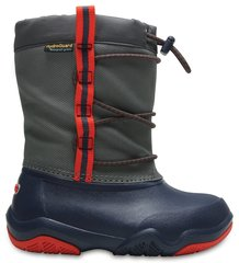 Poiste saapad Crocs™ Swiftwater Waterproof Boot, Navy / Flame