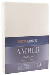 Kummiga voodilina DecoKing Jersey Amber Beige, 90x200 cm hind ja info | Voodilinad | kaup24.ee