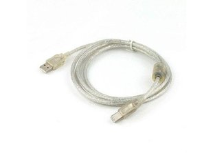 Gembird USB 2.0 cable A male -> B male, premium quality 3m transparent