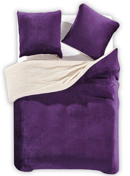 Voodipesukomplekt Teddy Purple, 3-osaline