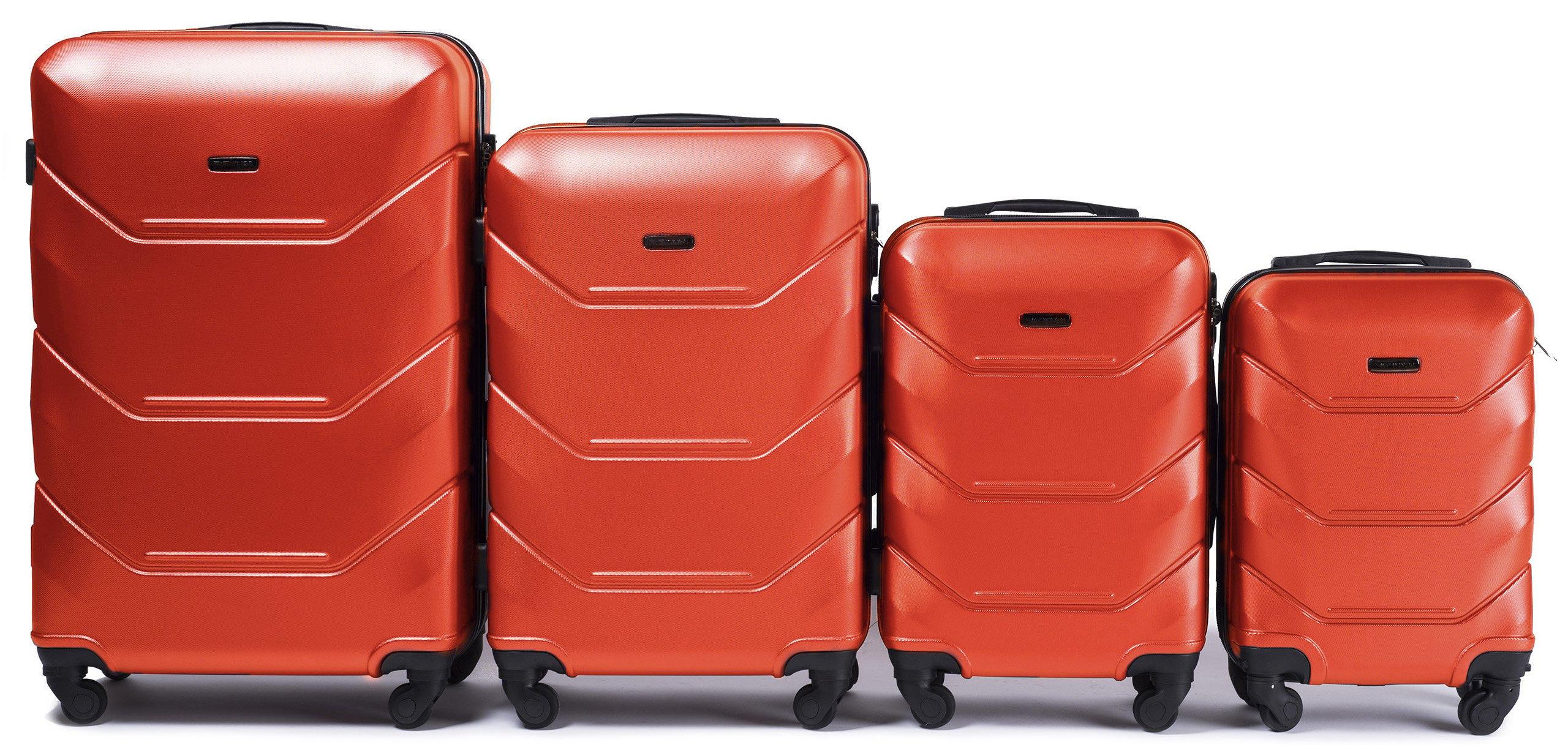 63cec276436 4-osaline kohvrite komplekt Wings 147-4, oranž