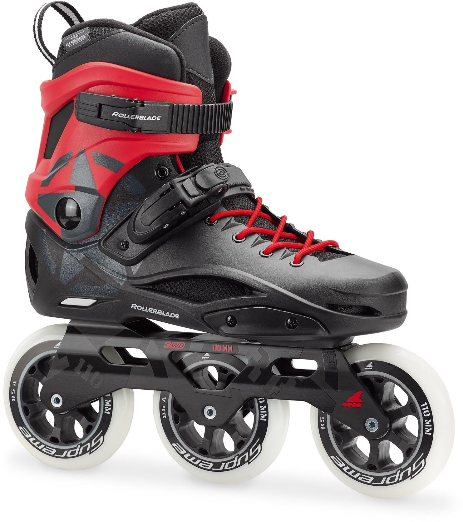 a147d72663f Rulluisud Rollerblade RB 3WD, must/punane